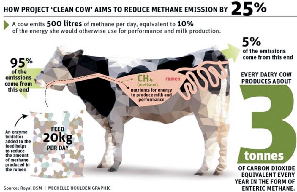 Étrendi változtatások a metánkibocsátás csökkentéséért